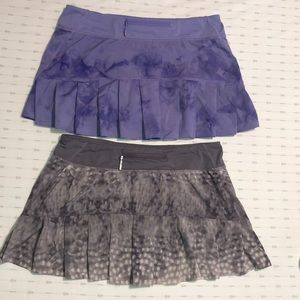Lululemon women's 2 pair Skirts, size 8, EUC